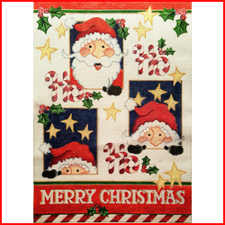 click here to view larger image of Santa Windows (hand painted canvases)