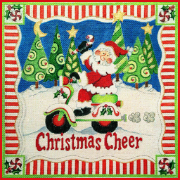 click here to view larger image of Christmas Cheer Santa (hand painted canvases)