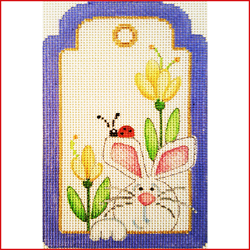 click here to view larger image of Rabbit With Ladybug (Spring) (hand painted canvases)