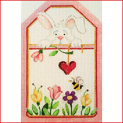 click here to view larger image of Rabbit With Flowers (Summer) (hand painted canvases)