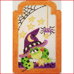 click here to view larger image of Witchy Frog (Halloween) (hand painted canvases)