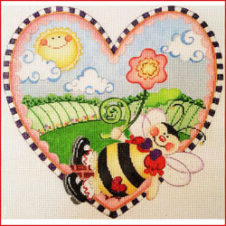 click here to view larger image of Bee Heart (hand painted canvases)