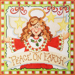 click here to view larger image of Peace On Earth Angel (hand painted canvases)