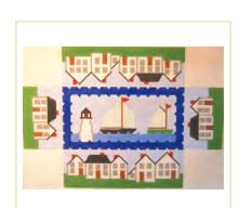 click here to view larger image of Harbor Doorstop (hand painted canvases)
