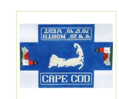 click here to view larger image of Cape Cod Doorstop (hand painted canvases)