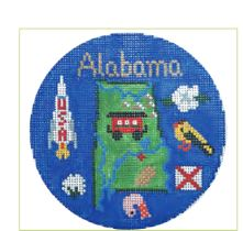 click here to view larger image of Alabama Ornament (hand painted canvases)