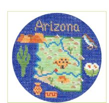 click here to view larger image of Arizona Ornament (hand painted canvases)