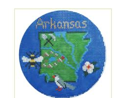 click here to view larger image of Arkansas Ornament (hand painted canvases)