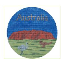 click here to view larger image of Austalia Ornament (hand painted canvases)