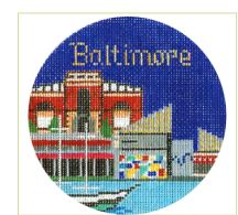 click here to view larger image of Baltimore Ornament (hand painted canvases)