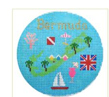 click here to view larger image of Bermuda Ornament (hand painted canvases)