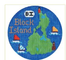 click here to view larger image of Block Island Ornament (hand painted canvases)
