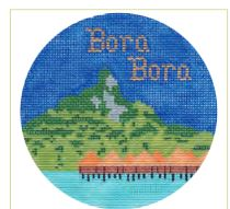 click here to view larger image of Bora Bora Ornament (hand painted canvases)