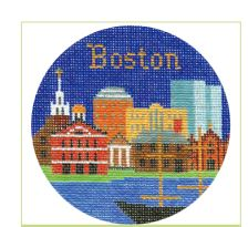 click here to view larger image of Boston Ornament (hand painted canvases)