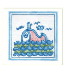 click here to view larger image of Hadley Pottery - Whale (hand painted canvases)