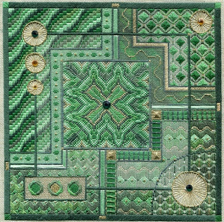 click here to view larger image of Malachite Maze (Includes Embellishments) (counted canvas work)