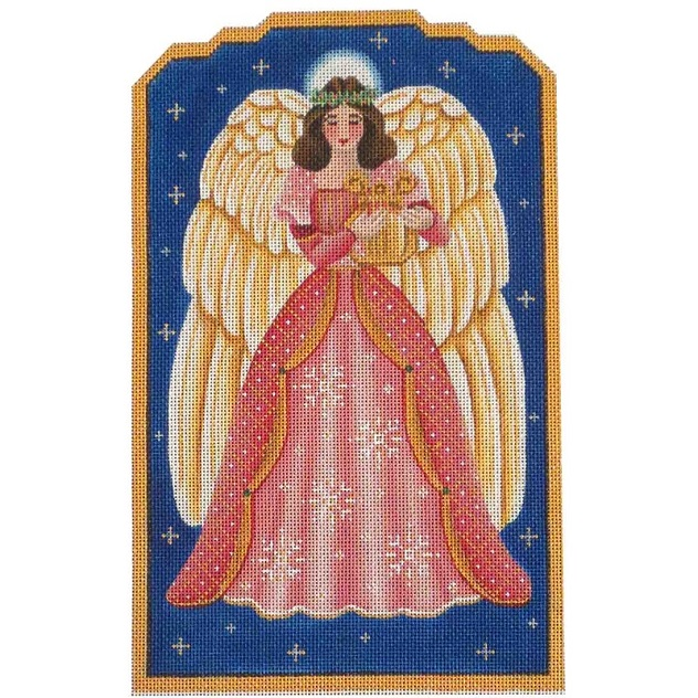 click here to view larger image of Mauve Angel (hand painted canvases)