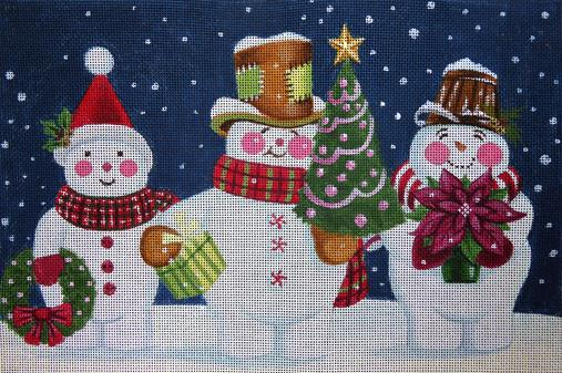 click here to view larger image of Snow Happy Trio (hand painted canvases)