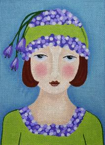 click here to view larger image of Hydrangea Girl (hand painted canvases)