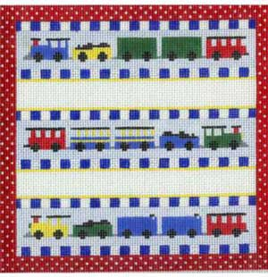 click here to view larger image of Baby Sampler Train (hand painted canvases)