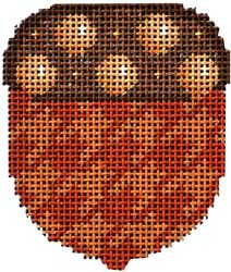 click here to view larger image of Camel/Brown Dot Cap Acorn (hand painted canvases)