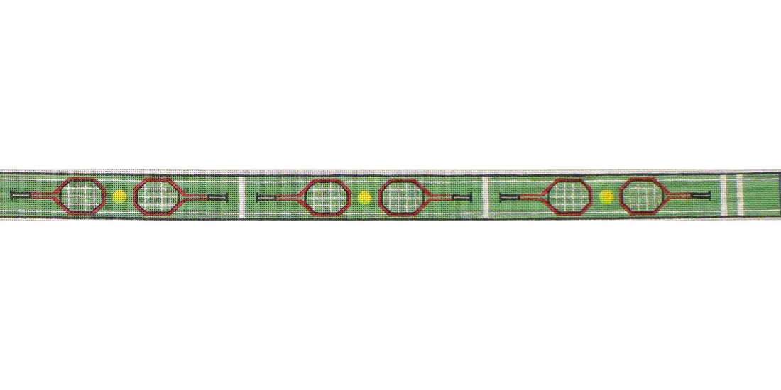 click here to view larger image of Tennis Belt (hand painted canvases)