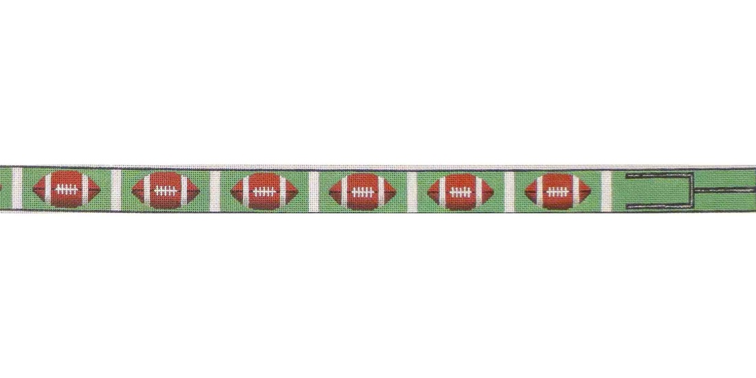 click here to view larger image of Football Belt (hand painted canvases)