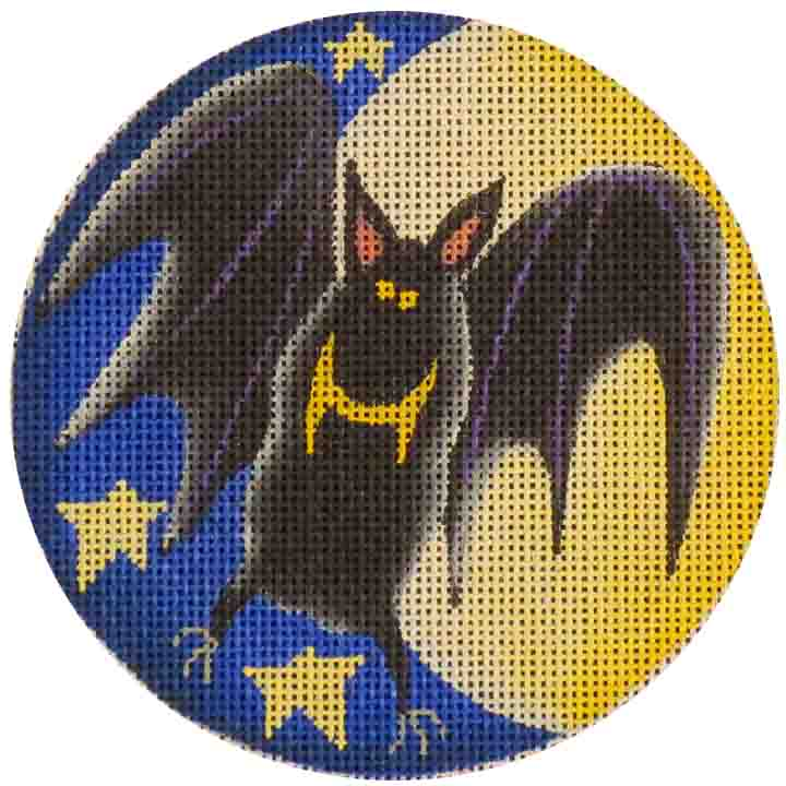 click here to view larger image of Crazy Bat Ornament (hand painted canvases)