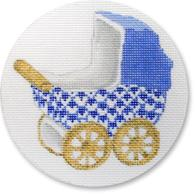 click here to view larger image of Baby Carriage - Blue (hand painted canvases)