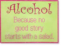 click here to view larger image of Alcohol, no good story (hand painted canvases)