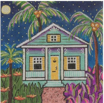 click here to view larger image of Blue Conch Cottage (hand painted canvases)