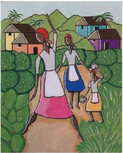 click here to view larger image of Garden Dancers (hand painted canvases)