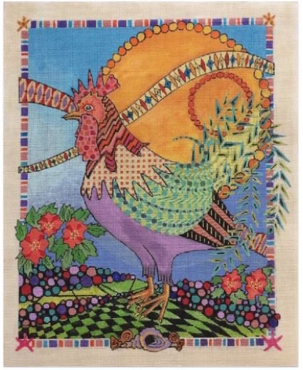 click here to view larger image of Key West Rooster (hand painted canvases)