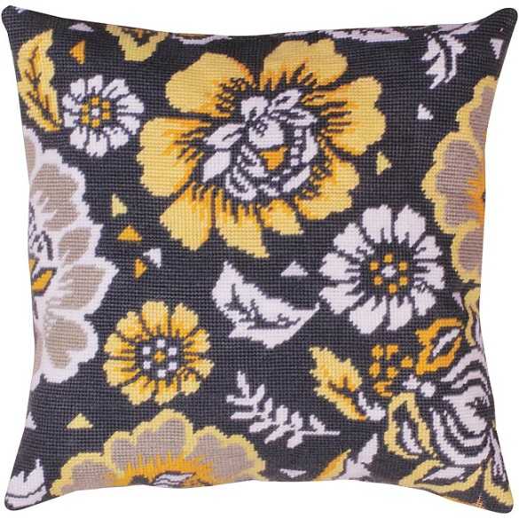 click here to view larger image of Yellow Floral (needlepoint kits)