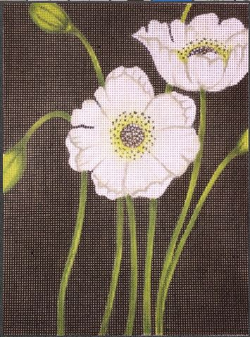 click here to view larger image of Hip Black Poppy (hand painted canvases)