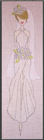 click here to view larger image of Bouquet Bride (hand painted canvases)