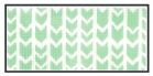 click here to view larger image of Green Arrows Purse Insert (hand painted canvases)