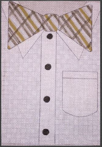 click here to view larger image of Plaid Bowtie (hand painted canvases)