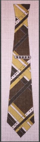click here to view larger image of Black and Gold Necktie (hand painted canvases)