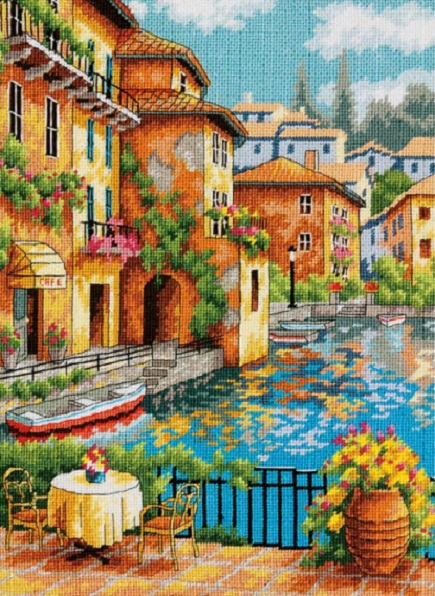 click here to view larger image of Cafe on the Canal (needlepoint kits)