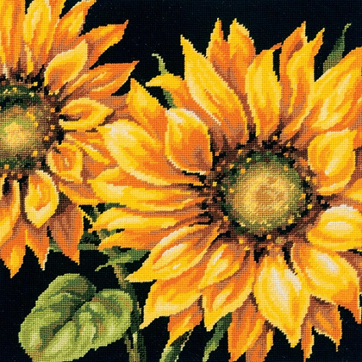 click here to view larger image of Dramatic Sunflower (needlepoint kits)