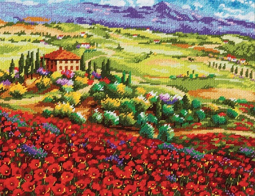 click here to view larger image of Tuscan Poppies (needlepoint kits)
