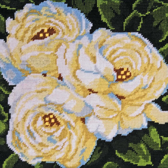 click here to view larger image of White Roses (needlepoint kits)