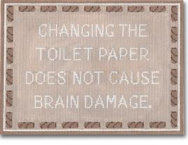 click here to view larger image of Changing The Toilet Paper (hand painted canvases)