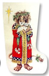 click here to view larger image of King Lion Stocking (hand painted canvases)