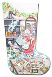 click here to view larger image of Mrs Cookie Santa Stocking (hand painted canvases)