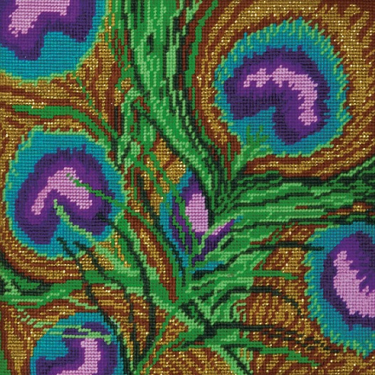click here to view larger image of Peacock Needlepoint (needlepoint kits)