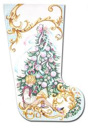click here to view larger image of Victorian Boy Stocking (hand painted canvases)