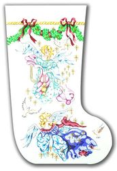 click here to view larger image of Angels Stocking (hand painted canvases)