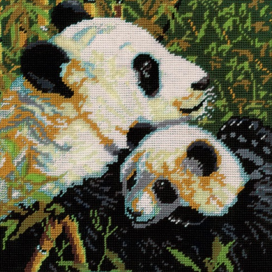 click here to view larger image of Pandas Needlepoint (needlepoint kits)